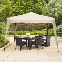 Ovid instant pop-up shelter with the Hampton outdoor collapsible canopy from Crosley. The large square canopy is designed to set up and come down easily, offering plenty of shade from the sun with UV-resistant fabric. The powder-coated steel frame is tough and durable, letting this easy-breezy canopy stay beautiful.