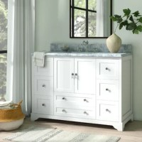 Every comfortable bathroom needs a classic vanity set. That's why we love this 48