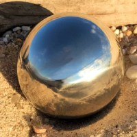 Add a polished eye-catching stainless steel gazing ball to your home and create a magnificent focal point in your garden. Ideal for outdoor decoration, these versatile gazing balls can be placed on the ground, on stands between flowers, in rock gardens or between tall grasses. Amazing in the pool. These stainless steel gazing balls float and make for dazzling eye candy as they bobble in the pool, pond or Jacuzzi. Sized at 7 inches in diameter. Great for gifting. Ideal for gardening enthusiasts...