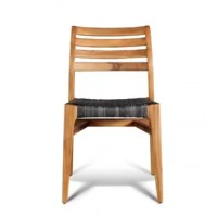 Update your outdoor seating area with the Dune side chair. Constructed of solid genuine teak with a Thai teak finish, this side chair is suitable for indoor or outdoor use. The seat is constructed out of a wicker weave in our Autumn Bark color. It is stackable up to a recommended 4 pieces.