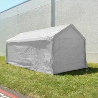 This Heavy Duty Outdoor Metal Party Tent is made to be able to withstand rain and sunshine. Simply set up and disassemble for an ideal outdoor storage tent. Perfect for recreational use or commercial use. Their outdoor gazebo top is made specially to protect your storage from sun rays and weather fluctuations. Offering plenty of room for your storage like boats, cars, BBQ grills or anything you need to keep safe from rain/sunshine. This product comes with sidewalls for all-around protection.