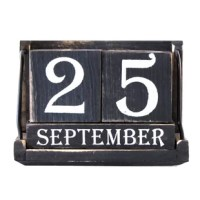"Wood Block Desktop Calendar is perfect decorative decor for your home in the kitchen, your home office, or your desk at work . This vintage looking wooden block perpetual calendar is reusable from year to year and month to month, so you will never have to worry about buying another calendar again! This perfect office decor calendar measures 6 1/4"" by 3 3/8""and 4 1/4"". Add this vintage looking office decor to your home today!"