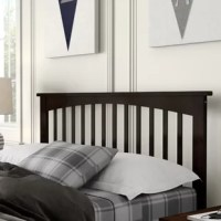 Every bed needs a headboard – and this one brings traditional style to your teen's space as they snooze. Crafted from rubberwood, it features a sleek silhouette accented by open, airy slats and molded details up top. A finish that displays natural wood grain details rounds out the look with a touch of natural appeal. It's available in a variety of sizes to best suit your teen's bed frame. Some assembly is required.