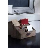 Rustic Recycled Pine Desktop Letter Holder