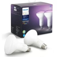 New to smart lighting? Get started with easy smart lighting with this Hue smart bulb. Just using Bluetooth, without the Hue Hub, you can control up to 10 lights in 1 room. Comfy on the couch? No need to get up to change your lights. Control your lights using the (free) Hue Bluetooth app or with just your voice with your favorite voice Assistant (Alexa or Google Assistant). Want to upgrade your whole home with smart lighting? Add a Hue Hub to control up to 50 light points, get access the full...