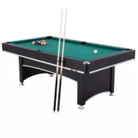 The Pool table with table tennis top features high-density play-field for a solid and consistent roll. Sturdy leg construction with adjustable leg levelers.