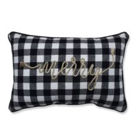 Make your decor merry this holiday season by adding a touch of festive cheer with this  lumbar pillow. The sentiment