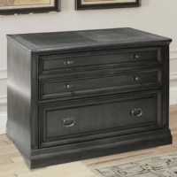 Stylish in every way, this two-drawer lateral file from the Washington Heights collections is a home office superstar. You'll love its rich washed charcoal finish and updated traditional styling.