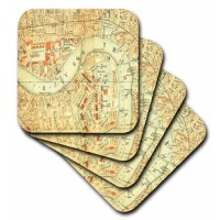 Old Map Of The River Thames n London Coaster is a great complement to any home décor. Soft coasters are 3.5