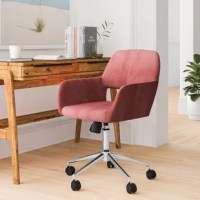 Whether you work from home all day, need a place to retreat on the weekends, or are working on your side hustle, the right office chair keeps you comfortable while you're concentrating. Take this one, for example, perfect for your modern-styled home office, this task chair features a five-spoke caster base.