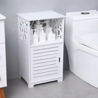 Features: ENVIRONMENTAL MATERIAL: Wood-Plastic composites material light and durable no formaldehyde zero pollution environmental protection for health EASY ASSEMBLY: Easy assembly in 5-10 minutes, waterproof. An assembly instruction sheet is included in the package for your reference WATERPROOF AND EASY TO Clean: This cabinet color is white. Still, you don't have to worry about its cleaning problems, the rack shelf can be washed directly in water, and then wipe dry. MULTI-FUNCTION STORAGE...