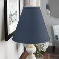 You've found the perfect lamp – now it's time to add the perfect shade! This understated shade features a washer fitter, the most common type of fitter, so it's suited for a variety of lamps. Crafted from linen and made in the USA, its dramatic empire silhouette features a textured look and a thick border for a touch of contrasting appeal. It measures 6'' W x 14'' D x 12'' H overall. This empire lampshade is equipped with a washer fitter and this is the most common fitter type. The...