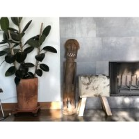 Beautifully reimagined gym Accent Stool in shape of pommel horse. Now covered in luxurious black & white cow hide on top of sturdy rustic wooden base. Perfect addition to any seating arrangements or use as stand alone eclectic accent.