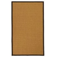 This natural fiber rug adds a touch of organic sophistication to any room of your home. This seagrass rug features an attractive design that imparts a pleasant appearance. The color of this rug is perfect for pairing with a wide range of decor, while a fringeless border provides a clean aesthetic. Sporting a casual style and an attractive color bordered pattern, this neutral rug provides the perfect carefree vibe to place among your existing furnishings. This Atia Border Hand-Woven Beige/Brown...