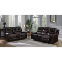 Complete a luxurious family room update with this power^2 leather sofa from the Nezperce collection. Rich top grain leather appeals to your discerning taste in your choice of colors to complement your decor. Dual reclining seats offer custom adjustment, including headrest support, at the touch of a button. Plush Crisper foam cushioning topped with a layer of cooling gel memory foam maintains an unprecedented level of comfort. Built-in USB ports allow handy charging of those electronic devices...