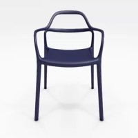 This chair has been reduced to what is most beautiful. Swaying curves define the silhouette with smooth flowy lines, attractive colors and sleek details, giving it a uniquely expressive silhouette. This collection is available in six polypropylene colors and stacks 5 high.