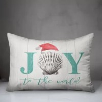 Add style and flair to your space this season with this coastal Christmas themed indoor pillow. Designed and printed in the United States, this piece is sure to bring the joy of the season to your room.