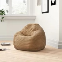 Whether lounging in front of the TV, reading a good book or sitting with the family and sharing stories, this bean bag chair makes for a perfect place to relax. Made with double-stitched, ribbed fabric panels for texture and polystyrene bean fill for comfort, this charming chair fits right in with a classic seating ensemble. So it's perfectly sized for adults.