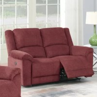 With its chic looking and modernistic outline, this exquisite recliner loveseat can showcase your taste of interior style. It is covered with a smooth fabric that makes you refuse to stand up from it, and it can also fit perfectly with your coffee tray and a beautiful flower vase on the coffee table. Available in slate, tan and paprika red depends on your preference.