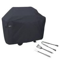 Our simple line of Classic Accessories grilling products will round out your grilling arsenal, readying you for any barbecue that may come your way. Discover More Time Outdoors with Classic Accessories. Tough fabric with water-resistant backing protects against rain, snow, sun, dirt and won't crack in the cold. When you buy a Classic Accessories grill or patio furniture cover you are not just getting a cover; you're also purchasing peace of mind. Not only will your grill and patio furniture...