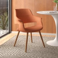 On this dining chair, you'll be enjoying home-cooked meals in style (no matter how that new recipe turns out). Add it to a dining table of your choice, pull it up to a computer desk, or use it as a side chair for extra seating at your next party. Perfectly at home in modern and contemporary aesthetics.