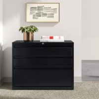 Don't let office clutter keep you from a productive workday! Keep that mess in line with a filing cabinet like this one! Crafted in the USA from metal, it features an understated, clean-lined design with three fully extendable drawers (which also lock, for a little extra handy functionality) that can be used with letter- and legal-sized documents. And since it arrives fully assembled, setting up is just one less headache for you to worry about. A limited lifetime warranty protects this piece.