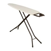 If you should find yourself looking for a functional and stylish way to iron many articles of clothing, whether it be for everyday or professional purposes, this product deluxe ironing board is a fantastic choice. The 4-leg design provides the best form of support and structure as you go about your ironing. The V-shaped legs finished with black plastic caps for better grip, work well on both level and uneven flooring. Made of high-quality materials, this ironing board possesses a steel mesh top...