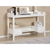 A great desk for your home, office or dormitory. Features with protection fence on the desktop prevents your item from falling, one lower shelf with drawers offers you more storage space,two drawers to keep your important things well organized. It can be used as a computer desk, writing table, study desk etc., perfectly for use in the home & office etc.