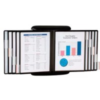 This unique quick reference organizer is can be easily wall mounted or attached to a flat metal surface such as a refrigerator with 4 strong magnets. This organizer displays 20 pages of information in the sturdy polypropylene pockets.  Quickly access the information looking for with the adjustable index tabs that are included. This is a great solution for schools, patient exam rooms, manufacturing facilities, home and office. Can have important and valuable information at your fingertips with...