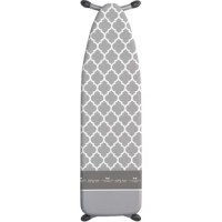 Laundry Solutions by Westex has brought you this special featured ironing board cover. It is one-of-a-kind and specially designed for the ultimate ironing experience. The cover contains 3 separate sections; Coated ironing surface for heat, steam & water repellency, and TURBO-GLIDE strip for less resistance. Temporary Iron rest area Turbo-Glide The silicone infused strip cleans the burned fibre remnants that inhibit the smooth glide of the iron. Leftover filaments from previous ironing create...