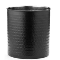 The Jumbo Hammered Matte Black Utensil Holder by Old Dutch is a decorative and convenient solution to storing your favorite spatulas, spoons and other cooking utensils easily at hand.  Measuring at 7.5