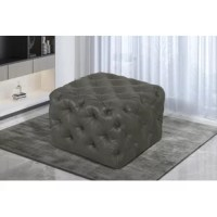 This traditional Williston Forge Small Square All-Over Tufted Ottoman finds itself at home in the center of any room. Upholstered in leather, this lightweight square ottoman also functions as a coffee table. This accent piece is great for any living room, family room, or game room, and is easy to assemble and maintain.