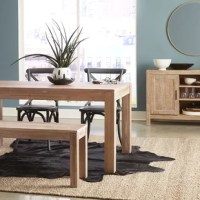Give your Dining room a Rustic Modern Farmhouse look with the warmth of this Dining Table. Featuring a modern and eco-friendly design, this table has minimal impact on the environment as all wood comes from renewable forests. The distressing and rustic finish is very durable and easy to touch-up.