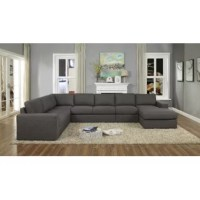 With the unlimited possible options, this sectional features a superior linen upholstery, tight back, and seat cushion. This sectional is completely modular so you can create the living room for your comfort needs.