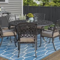 Cast aluminum is an ideal material for outdoor patio furniture. It is strong, non-rusting, lightweight, and retains its good looks through blistering summer suns, drenching thunderstorms, and lively, frolicking children. All of these features make it a premium choice for outdoor patio furniture.