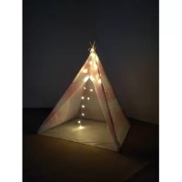 This MODERN KIDS TEEPEE is made of durable 100% cotton canvas. All seams, raw fabric edges, and openings are reinforced for safety, durability and years of play. Unique American native Teepee TENT is four walls wooden frame design, the pole is solid timber and it has a smooth finish. This listing comes with two of our Teepees.