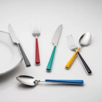 Show your true colors with this 24-piece flatware set coordinates with all of your favorite.