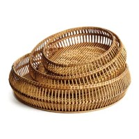 This all-natural tray is made from thin reeds of river bamboo.