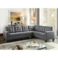 This product will be perfect for a big space and a big family for its L-shape sectional in linen fabric with large seating space. Upholstered in durable soft linen fabric on a hardwood frame with high-density foam-filled seat and back cushions, it is like a showpiece and will be perfect for your living environment.
