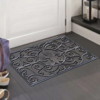 This stylish and unique doormat makes a perfectly fun addition to any porch, patio area or door. Use this mat to catch dirt as your guests enter your home or as decoration to show off your love of felines. This door mat withstands seasonal changes and can be used outside all year long. This transitional style copper and black rubber door mat is the perfect way to spruce up your floors and home decor while maintaining a level of practicality.