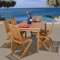 The Ervine 7 piece teak rectangular patio dining set will create a vacation-at-home feel for you and your guests! Enjoy a tropical meal with this rectangular patio table and six slatted side chairs. Assembly is required only for the table. Comes with free feron guard wood perservative for longest strap durability. It works great against the effects of air pollution salt air, and mildew growth. For best protection, perform this maintenance every season or as often as desired.