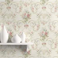 Traditional in nature, this delicate wallpaper pattern will transform your interior space into a soothing secret garden. The manicured design gives any wall surface a genteel elegant look without overpowering.