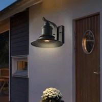 HIGH-QUALITY Outdoor Wall Lantern: It can be easy to match with another decoration style. Ideal for porch, patio, garden, corridor, balconies, terraces, garage door, villa, open field, entryway.