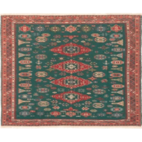 Gorgeous flatwoven Sumak rug executed with fresh, cheerful colors and a plethora of striking designs that will reinvent your floor