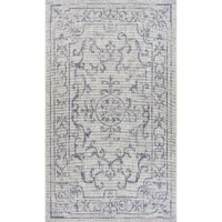 The distressed appearance of this rug will give years of wear without affecting the style of this piece. The medallion center is quick to draw the eye and highlight a variety of hues in the room. Adding this rug to your space is sure to thrill you and your guests. The flat weave design makes this rug perfect for high traffic areas or even some sandy patios, as this piece is easily shaken out. Don't overlook the endless opportunities this indoor/outdoor collection has to offer for a variety of...