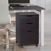 This filing cabinet makes your files a perfect storage space. It is ideal to storage filings horizontally in A4/letter size, and it fits under the most desks. And it won't make noise in using for its ball-bearing drawer slides. You can even use it to translate things. This grade P2 and FSC particleboard sliding cabinet will offer you eco-friendly family/office time.