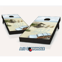 These top of the line cornhole boards are sure to bring life to any party. Set comes ready to play with 8 cornhole bags.