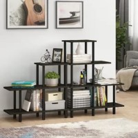 An easy solution to clutter or small rooms. The 4-Tier rack comes with multiple color choices to suit different styles of house. It provides 4 levels of shelf space to keep things organized and also display decorations or collections. The rack is made from strong and sturdy particleboard and plastic tubes. The edges are nicely rounded to prevent potential injuries. The rack is one of Turn-N-Tube furniture, therefore assembly requires no tools at all. Just turn and twist the tubes against the...