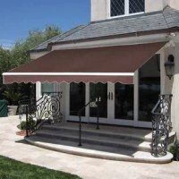 Name synonymous with classic design and the carrier of value and quality. This products is directly from the factory and eliminated the cost of middlemen. The manual retractable awning is a high-quality shading solution to enhance comfortable feelings as you try to enjoy the nice day. The manual-operated retractable awning features 100% solution-dyed spun-polyester fabrics in different color and size options for long fade-resistant life, protecting you and your belongings from the sun's UV rays.