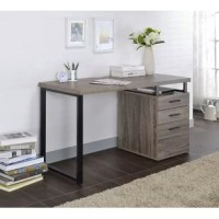 Make your office more organized with this desk. Not only does it have 2 drawers and a bottom file drawer, but an